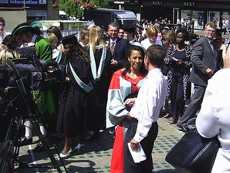 Dame Kelly Holmes got an Honorary degree from Hull University and Peter Levy was there to interview her for Look North (© David Morris, CC BY-SA 2.0)