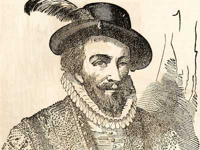 An illustration of Sir Walter Raleigh