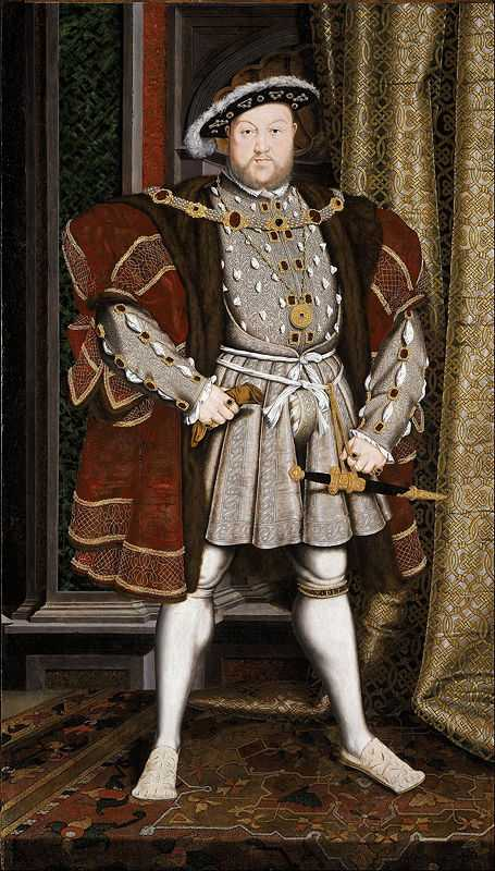 Portrait of Henry VIII by the workshop of Hans Holbein the Younger. (1537 - 1547)