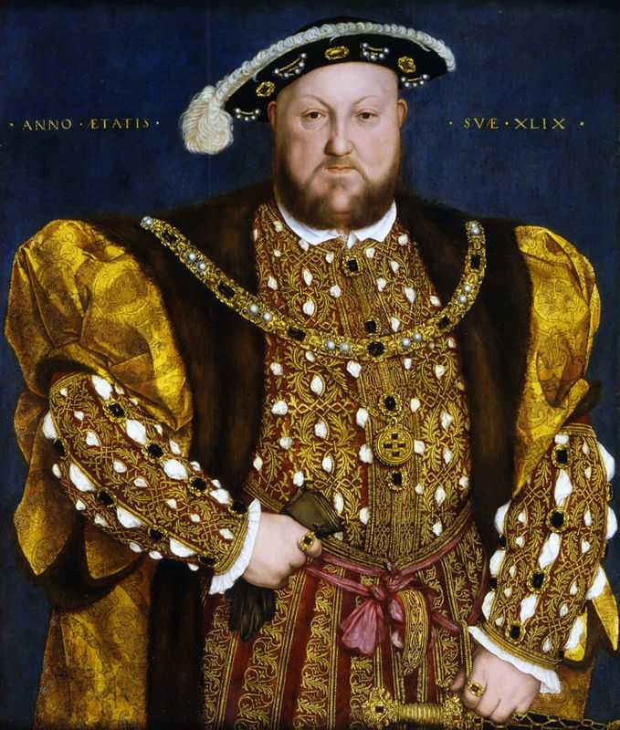 Henry VIII of England in 1540, by Hans Holbein the Younger (1497/1498–1543)