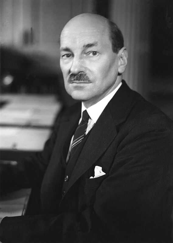 A photo of Clement Attlee in 1945