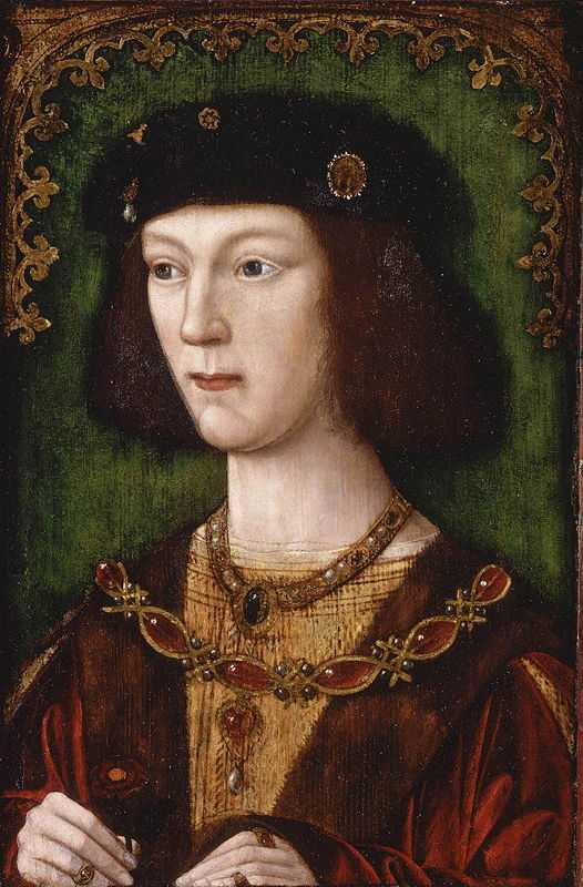 Eighteen-year-old Henry VIII after his coronation in 1509 (attributed to Meynnart Wewyck (fl. circa from 1502 until 1525 ))