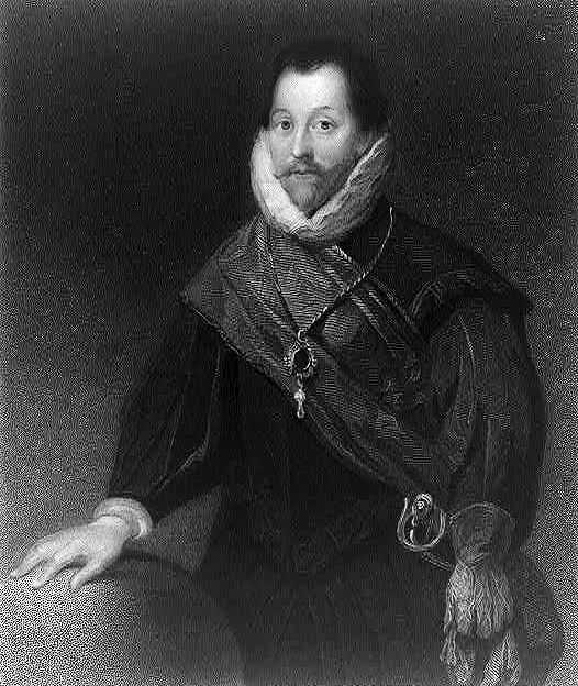 A portrait of Sir Francis Drake, an English sea captain, privateer, navigator, slaver, and politician of the Elizabethan era