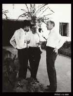 Symposium on Nucleic Acids, Hyderabad, January, 1964: photograph of Crick in conversation with Siddiqi and Garen