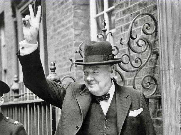 Churchill's V for victory sign