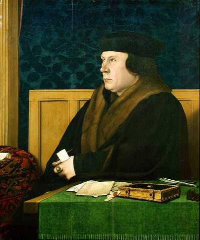 Thomas Cromwell in 1532 or 1533 painted by Hans Holbein