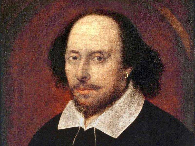 The Chandos Portrait is one of the few portraits of William Shakespeare. It was painted between 1600 and 1610, when Shakespeare was around 40 years old.