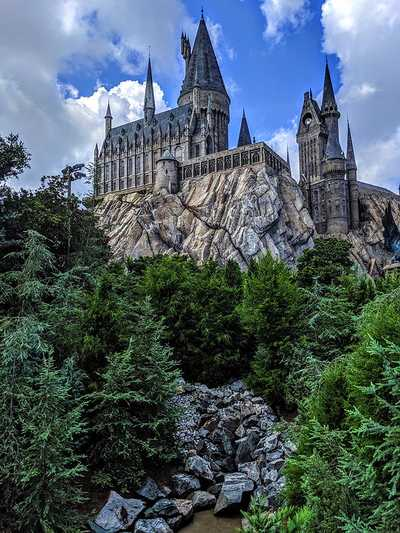 A photo of Hogwarts at the Universal Studios in Orlando