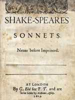 The first collected edition of Shakespeare's sonnets, published in 1609