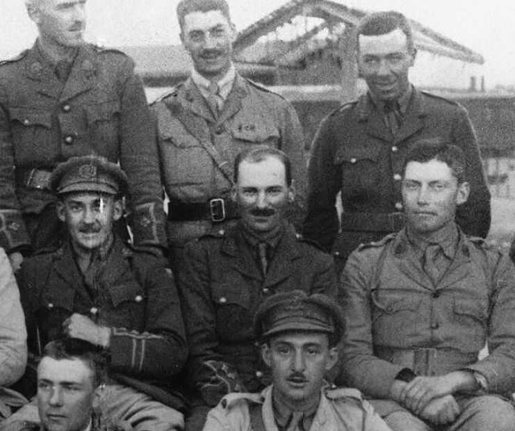 Attlee (seen in the centre) in 1916, aged 33, whilst serving in Mesopotamia