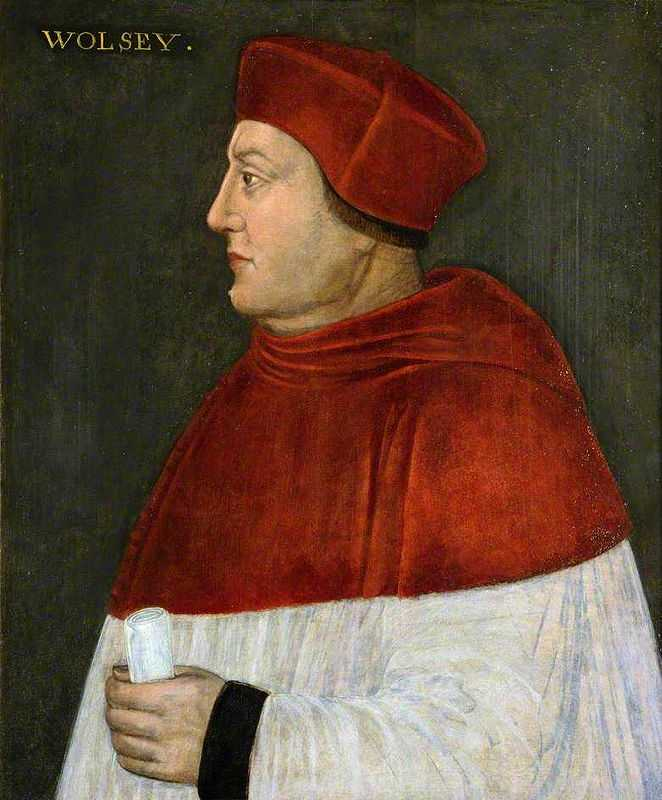 Cardinal Thomas Wolsey (1475-1530), Royal Minister, Archbishop of York painted by an unknown artist (1585–1596)