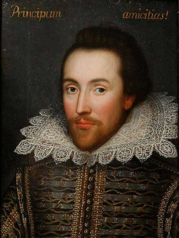 A portrait of William Shakespeare as a young man