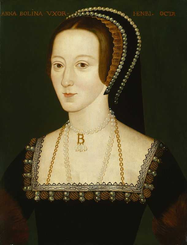 Portrait of Anne Boleyn, Henry's second queen; a later copy of an original painted by an unknown artist c. 1534
