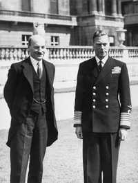 Attlee meeting King George VI after Labour's 1945 election victory