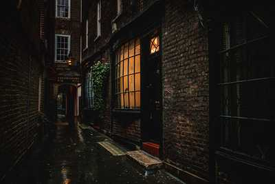 Goodwins Court became Knockturn Alley, the secret shopping street in London for Witchcraft and Wizardry