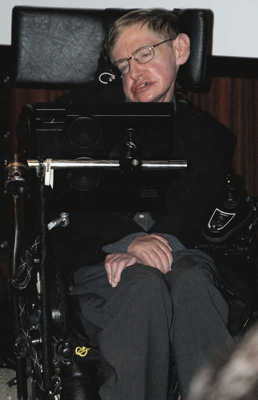 Hawking at the Bibliothèque nationale de France to inaugurate the Laboratory of Astronomy and Particles in Paris, and the French release of his work God Created the Integers, 5 May 2006