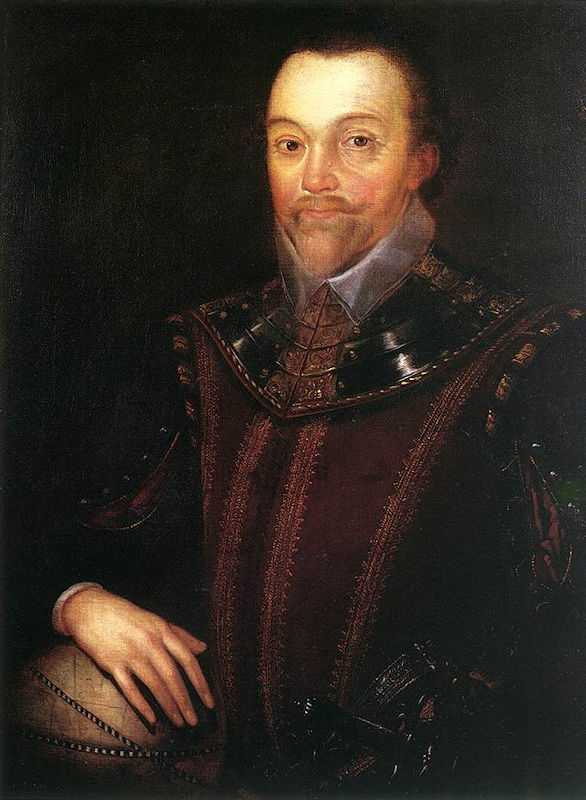 1590 or later, a portrait of Sir Francis Drake Buckland Abbey, Devon